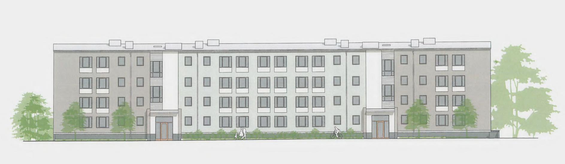 Nya torghuset har fått bygglov – så grått riskerar nya Rönninge Centrum att bli.